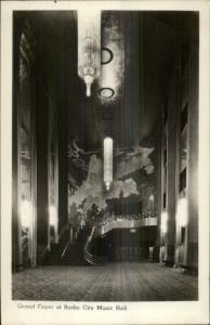 New York City Radio City Music Hall Foyer Real Photo Postcard