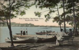 Bryantville MA Mayflower Grove Boat Landing c1910 Postcard
