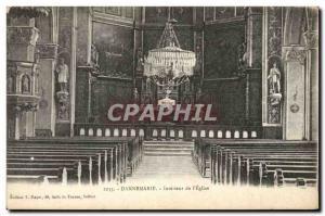 Old Postcard Dannemarie Interior De L & # 39Eglise