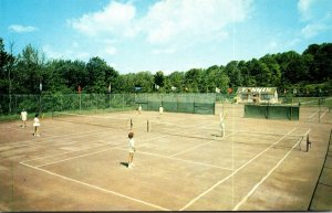 New York Kiamesha Lake Concord Hotel Tennis Courts