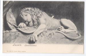 Luzern Lowendenkmal Lion Monument Lucerne UDB c 1908