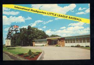 Williamsport, Pennsylvania/PA Postcard, Headquarters, Little League Baseball
