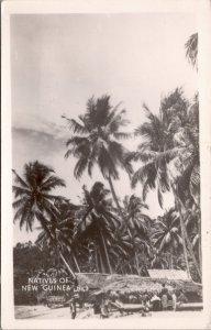 RPPC-Paupa, New Guinea Natives WWII No. 3 Grogan Photo