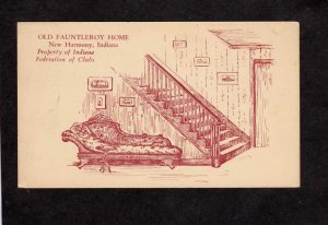 IN Old Fauntleroy Home Federation of Clubs New Harmony Indiana Postcard Sketch