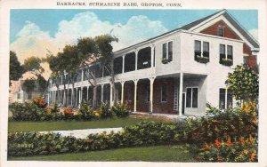 Barracks, Submarine Base, Groton, Connecticut, Early Postcard, Unused