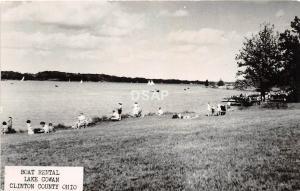 B50/ Lake Cowan Clinton County Ohio Postcard Real Photo RPPC c1950 Boat Rental