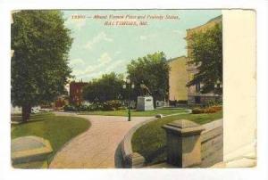 Mount Vernon Place & Peabody statue, Baltimore, Maryland, PU-1908