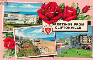 Greetings from Cliftonville, roses, souvenir, multiviews