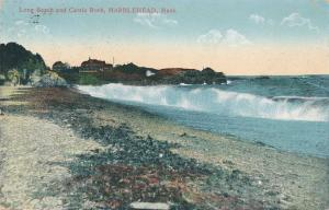Long Beach and Castle Rock at Marblehead MA, Massachusetts - pm 1914 - DB