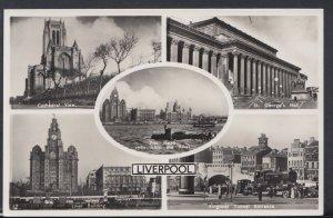 Lancashire Postcard - Views of Liverpool  DC1620