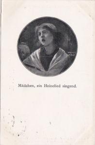 Maedchen Ein Heinelied Singend by Walter Firle 1908