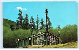*Indian Ceremonial House Totem Bight near Ketchikan Alaska Vintage Postcard B72