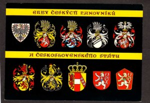 Czechoslovakia Czech Republic Rulers Kings Coats of Arms Postcard Czechoslovak