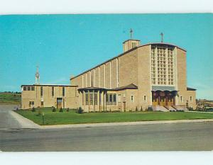 Unused Pre-1980 CHURCH SCENE Rapid City South Dakota SD hs6789