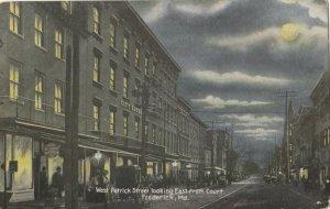 FREDERICK , Maryland , 1912 ; West Patrick Street , night