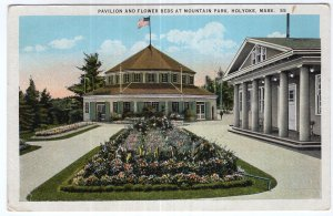 Holyoke, Mass, Pavilion And Flower Beds At Mountain Park