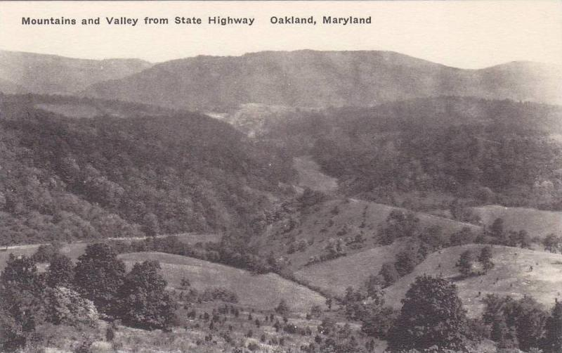 Mountains and Valley From State Highway, Oakland, Maryland, 00-10´s