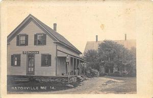 Razorville ME P. C. Inglalls Store & Post Office F. W. Cunningham RP Postcard