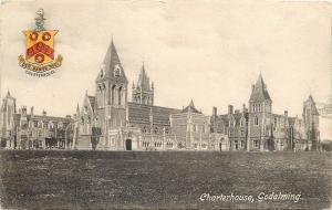 Godalming England~Charterhouse~Coat of Arms~1910 Postcard