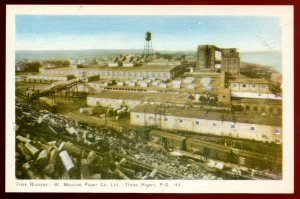 dc1310 - TROIS RIVIERES Quebec Postcard 1930s St. Maurice Paper Mill