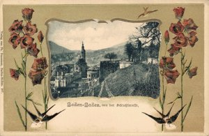 Germany Baden Baden von der Schlossterrasse 03.42