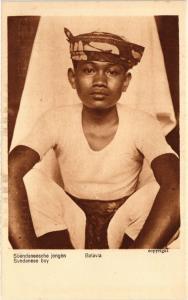 CPA BATAVIA Sundanese boy. INDONESIA (a3069)