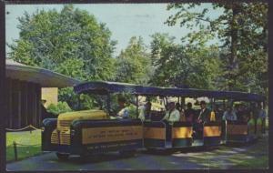 Tractor Train,Detroit Zoo,MI Postcard BIN
