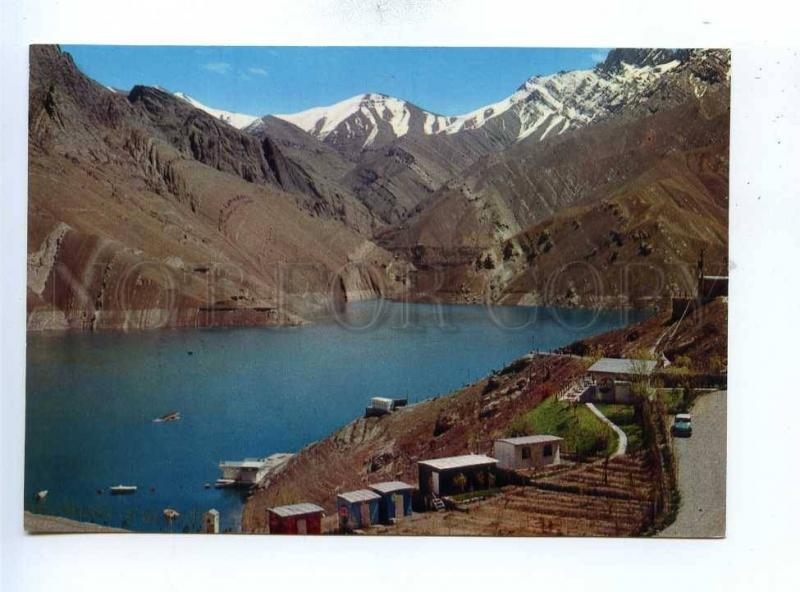 193008 IRAN TEHRAN Chalus road Karaj DAM old photo postcard