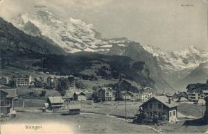 Switzerland Wengen Jungfrau Breithorn 02.88