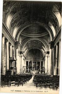 CPA RENNES-Intérieur de la Cathédrale (265213)