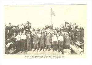 U.S.S.B. Merchant Marine Training Ship, USA, 1910-30s   Instructors &Apprentices