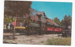 RR Depot Short Line Steam Engine Train Nevada City Montana Vintage Postcard