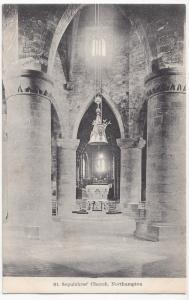 Northamptonshire; Northampton, St Sepulchre's Church Interior PPC, Unused