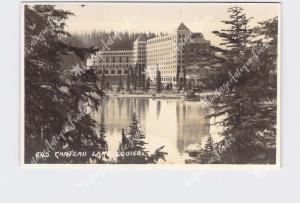 RPPC REAL PHOTO POSTCARD CANADA ALBERTA CHATEAU LAKE LOUISE #645