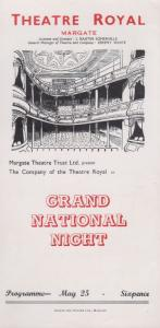 Grand National Horse Racing Night Dorothy Christie Theatre Margate Programme