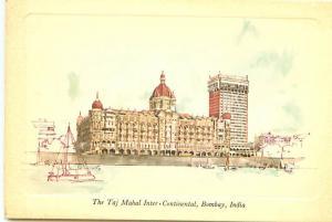 Postcard India Bombay Taj Mahal Inter Continental Apollo Bunder  # 2692A