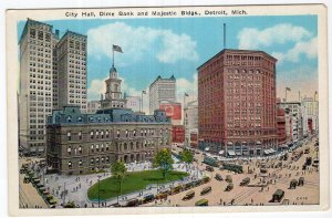 Detroit, Mich., City Hall, Dime Bank and Majestic Bldgs.
