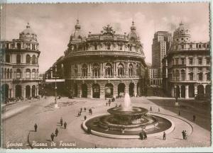 Italy, Genova, Piazza de Ferrari, 1939 used real photo RPPC