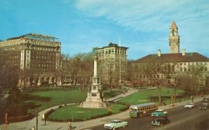 Worcester, Mass, View of the Common, and City Hall unused...