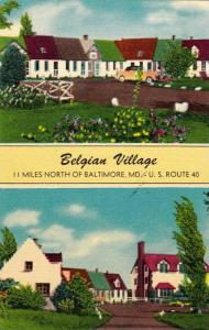 Scenic view,Belgian Village,Baltimore,Maryland,30-40s
