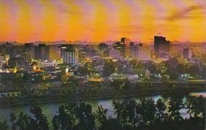 Canada Calgary At Dusk Calgary Alberta