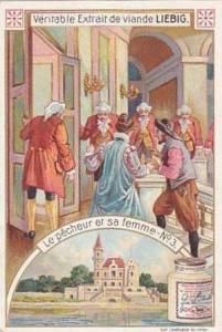 Liebig Vintage Trade Card S834 The Fisherman & His Wife Card No 2 Le Pecheur ...