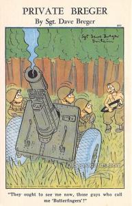 Military Comic Postcard, Old Vintage Antique Post Card Private Breger By Sgt ...
