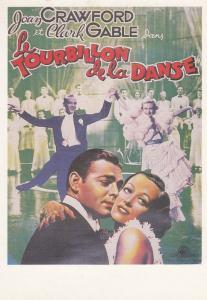 Fourbillon De La Danse Joan Crawford Clark Gable Poster Art Rare French Postcard