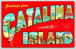 Catalina Island California~Beach-Harbor-Fishing-Restaurant Views~Large Letter