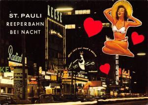Hamburg St Pauli Reeperbahn bei Nacht Auto Vintage Cars Street Night view