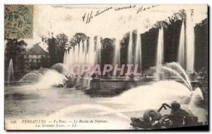 Old Postcard Versailies Le Parc Le Bassin de Neptune Les Grandes Eaux
