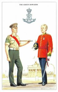Postcard The British Army Series No.35 The Green Howards by Geoff White
