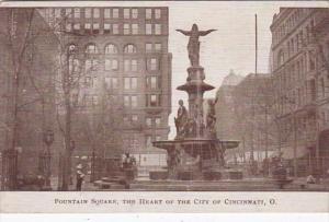 Ohio Cincinnati Fountain Square 1912