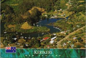 Kerikeri New Zealand NZ Bay of Islands Aerial View Vintage Postcard D59